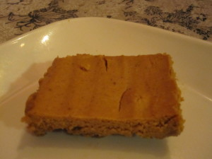 gluten free pumpkin bar